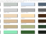 Standard Colours For Andek Products
